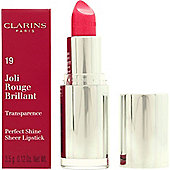 Clarins Joli Rouge Brilliant Perfect Shine Sheer Lipstick 3.5g - 19 Tropical Pink