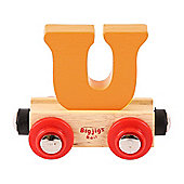 Bigjigs Rail Rail Name Letter U (Orange)
