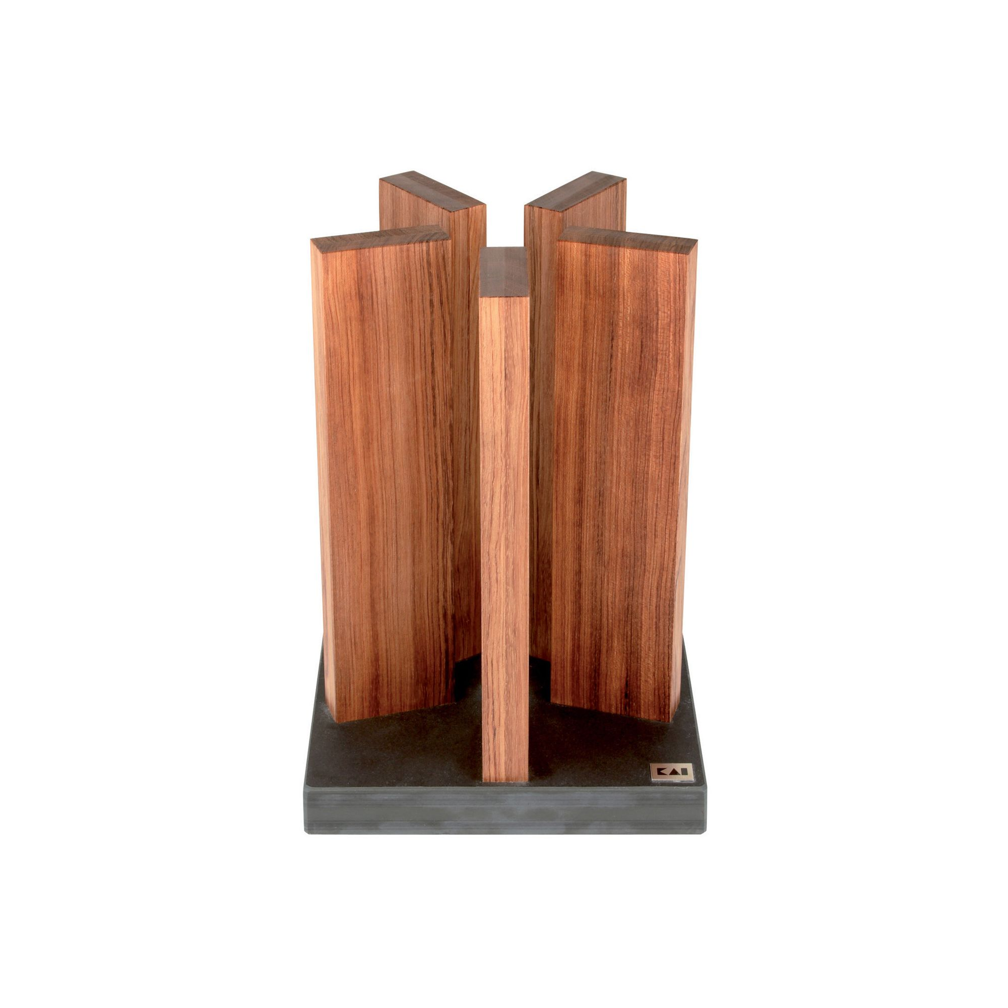 Kai Red Wood Magnetic Knife Block at Tesco Direct