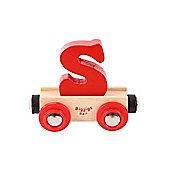 Bigjigs Rail BR119 Name Letter S (Colours Vary)