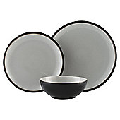 Denby Everyday 12 Piece, 4 Person Dinner Set - Black Pepper