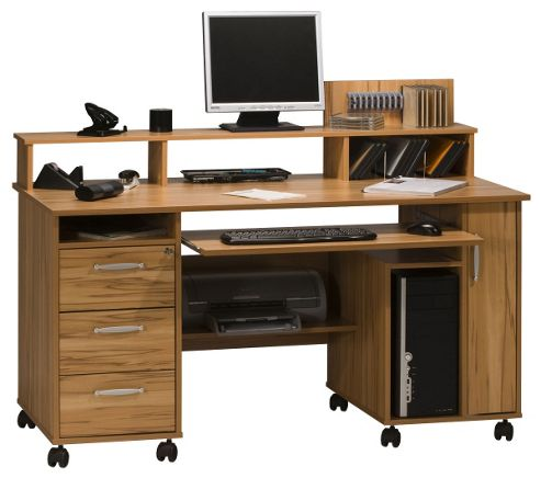 Buy maja exeter beech computer desk from our office desks tables range tesco - Tesco office desk ...