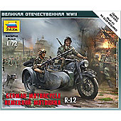Zvezda - German Motorcycle R-12 WWII - Scale 1:72 6142
