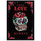 Cardxcore Black Wooden Framed True Love Always Poster
