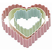 KitchenCraft Sweetly Does It Heart Cookie Cutters, Set of Three