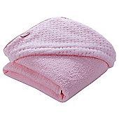 Clair de Lune Luxury Hooded Towel (Honeycomb Pink)