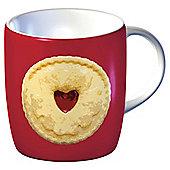 Tesco Single Porcelain Biscuit Mug, Red