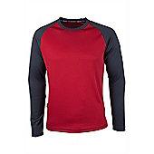 Endurance Mens Long Sleeve T-Shirt - Red