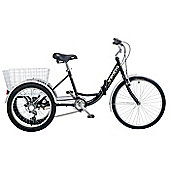 Viking Cargo Folding Adult Trike 6-Speed Tricycle Black