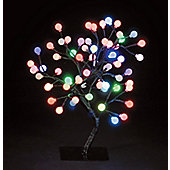 Snowtime S-Shape Globe Tree - Multi - 45 cm H