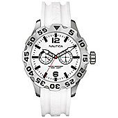 Nautica Gents BFD 100 White Rubber Strap Watch A16603G