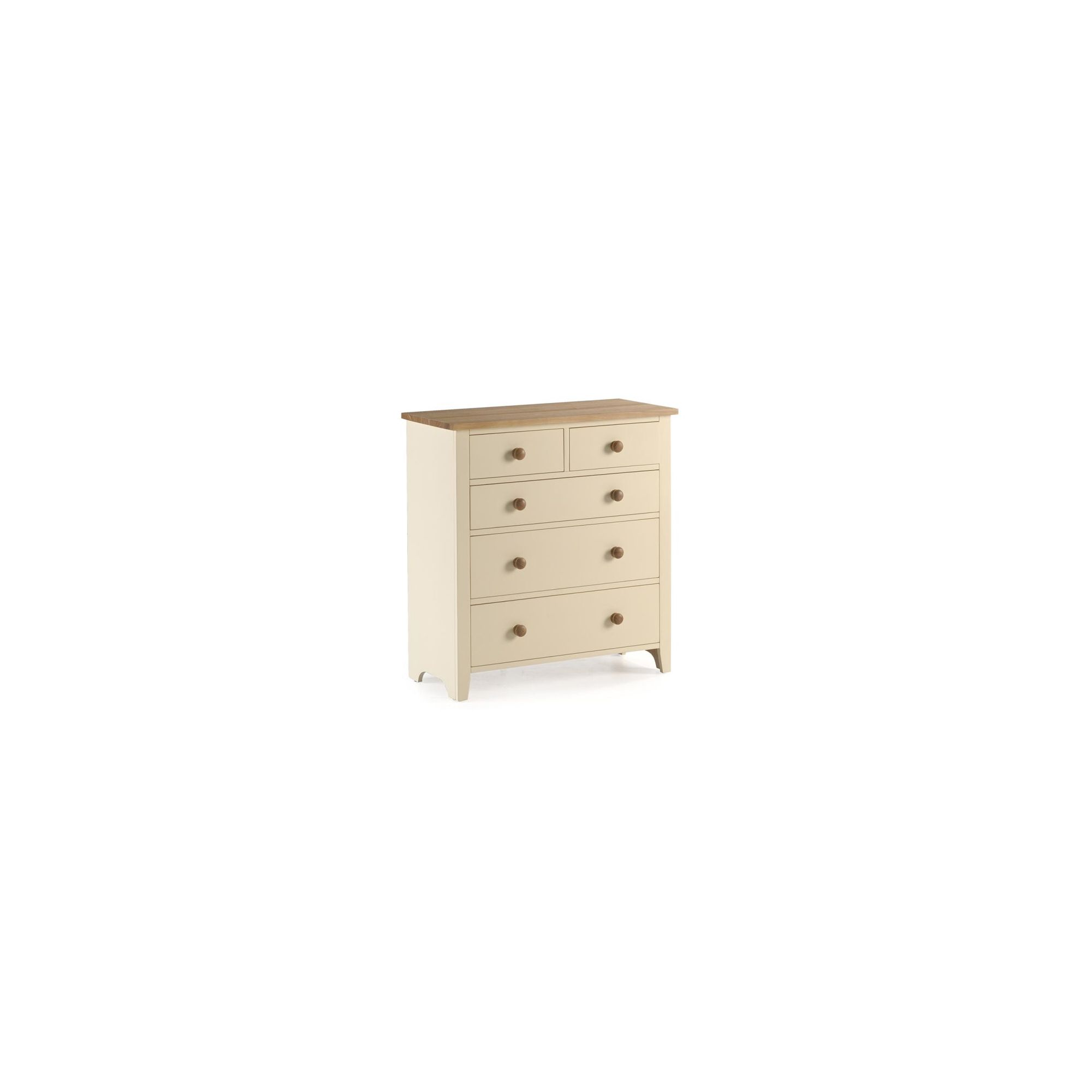 Ametis Camden Painted Pine and Ash Deep Chest in Painted Ivory - 96cm at Tesco Direct