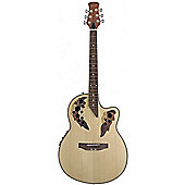 Stagg Shallow Cutaway Leaf Design Guitar in Natural
