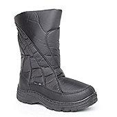 Mountain Peak Boys Avalanche a3 Black Snow Boots - Black