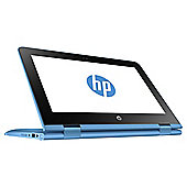 "HP 11.6"" 11-aa000na Stream X360 Intel Celeron 2GB RAM 32GB eMMC Storage Aqua Blue 2 in 1 Laptop"