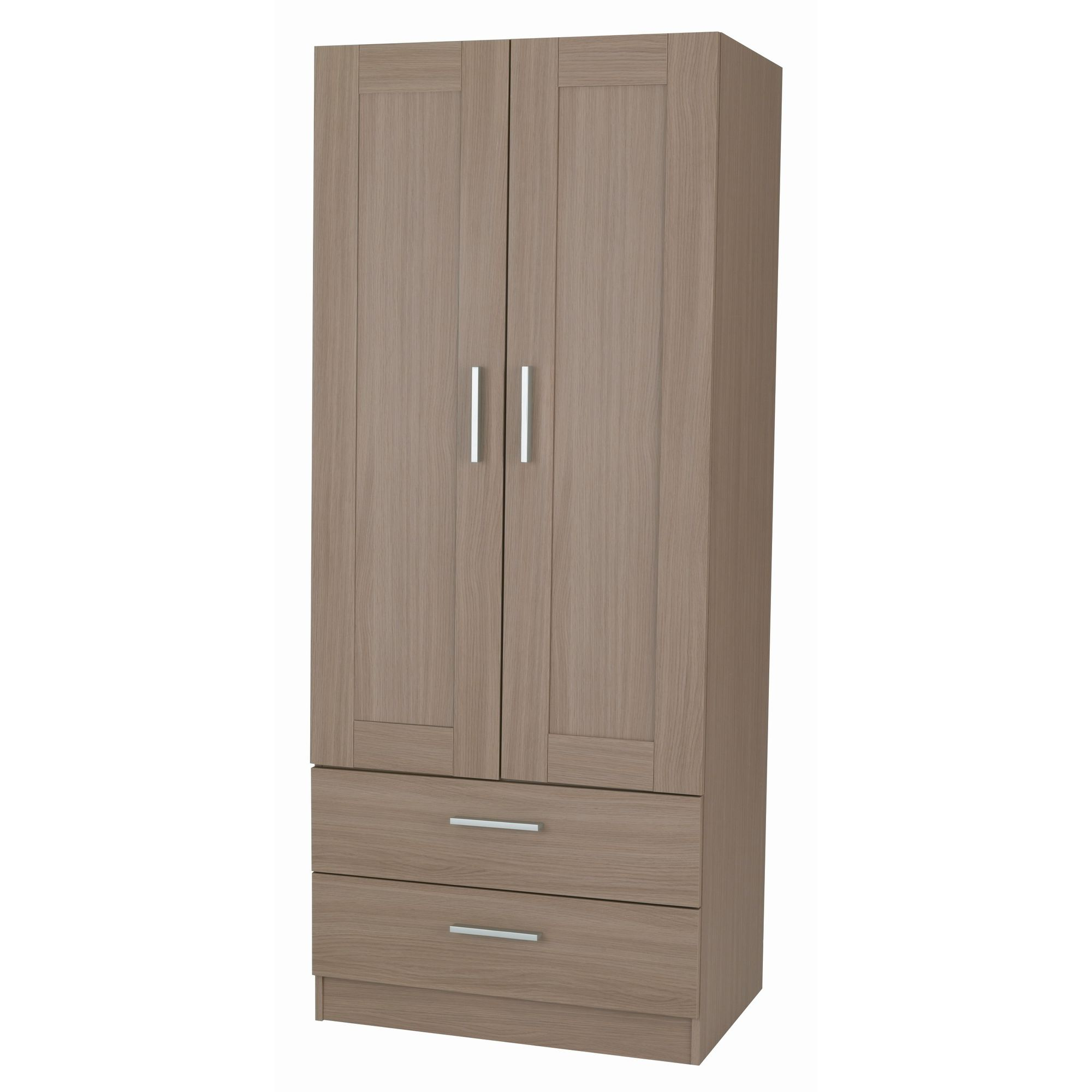 Alto Furniture Visualise Shaker Combi Two Drawer Wardrobe in Veradi Oak at Tescos Direct