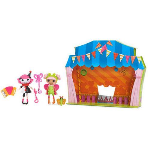 Mini Lalaloopsy Silly Funhouse Dolls - Blossom Flowerpot and Charlotte Charades - MGA