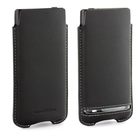 Sony Original Premium Pouch Case for Sony Xperia S - Black