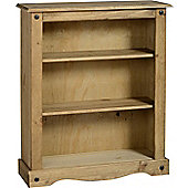 Corona Mexican Low Bookcase Distressed Waxed Pine