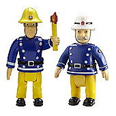 Fireman Sam Action Figures 2 Pack - Sam and Fire Officer Steele