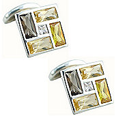 Faceted Crystal & Sterling Silver Cufflinks By Seven London