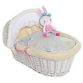 Isabella Alicia White Wicker Moses Basket (Bizzi Growin Twinkletoes)