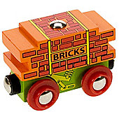 Bigjigs Wooden Railway Bricks Wagon NEW