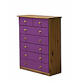 5 + 2 Chest of Drawers in Antique and Lilac