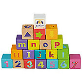 Boikido ABC Cubes - Cubes Numbers and Alphabet 28 pcs Wooden Blocks