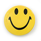 Happy Smiling Face Lapel Pin Button Badge - 3cm Diameter