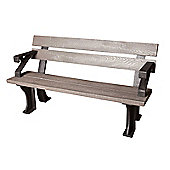 Grey Recycled Plastic Bench