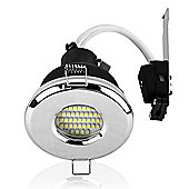 MiniSun IP65 Daylight LED GU10 Bathroom Downlight in Chrome