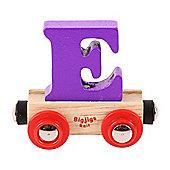Bigjigs Rail Rail Name Letter E (Purple)