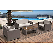 BrackenStyle Luxury Four Seat Sofa Set & Cushions - Light Grey