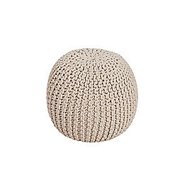 Kaikoo Chunky Knitted Pouffe, Natural