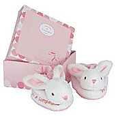 Doudou et Compagnie Rabbit Booties Gift Box 0-3 Months, Pink