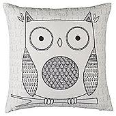 Illustrated Owl Cushion