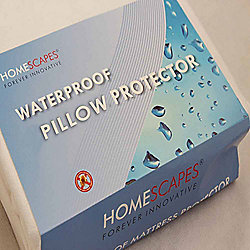 Homescapes Polypropylene Waterproof Pillow Protector Pair