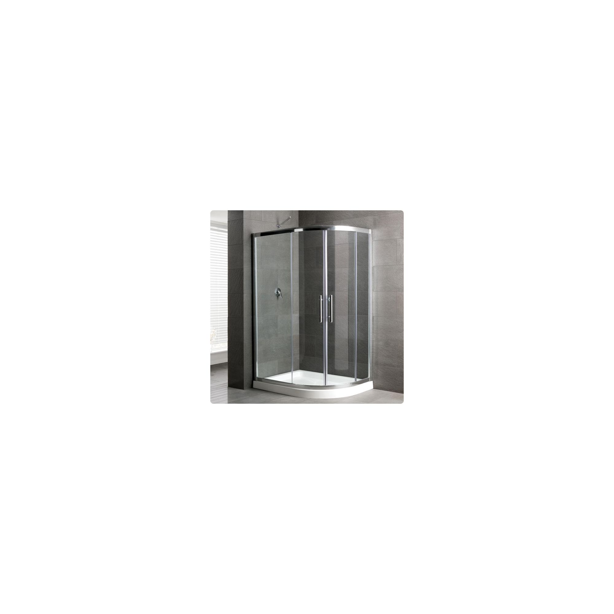 Duchy Select Silver 2 Door Offset Quadrant Shower Enclosure 1200mm x 800mm, Standard Tray, 6mm Glass at Tesco Direct