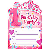 1st Birthday Princess Postcard Invites (20pk)