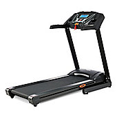 V-fit PT143 PROGRAMMABLE POWER PRO INCLINE FOLDING TREADMILL - (18km/h - Hand Pulse - Backlit Display - 15% Powered Incline)