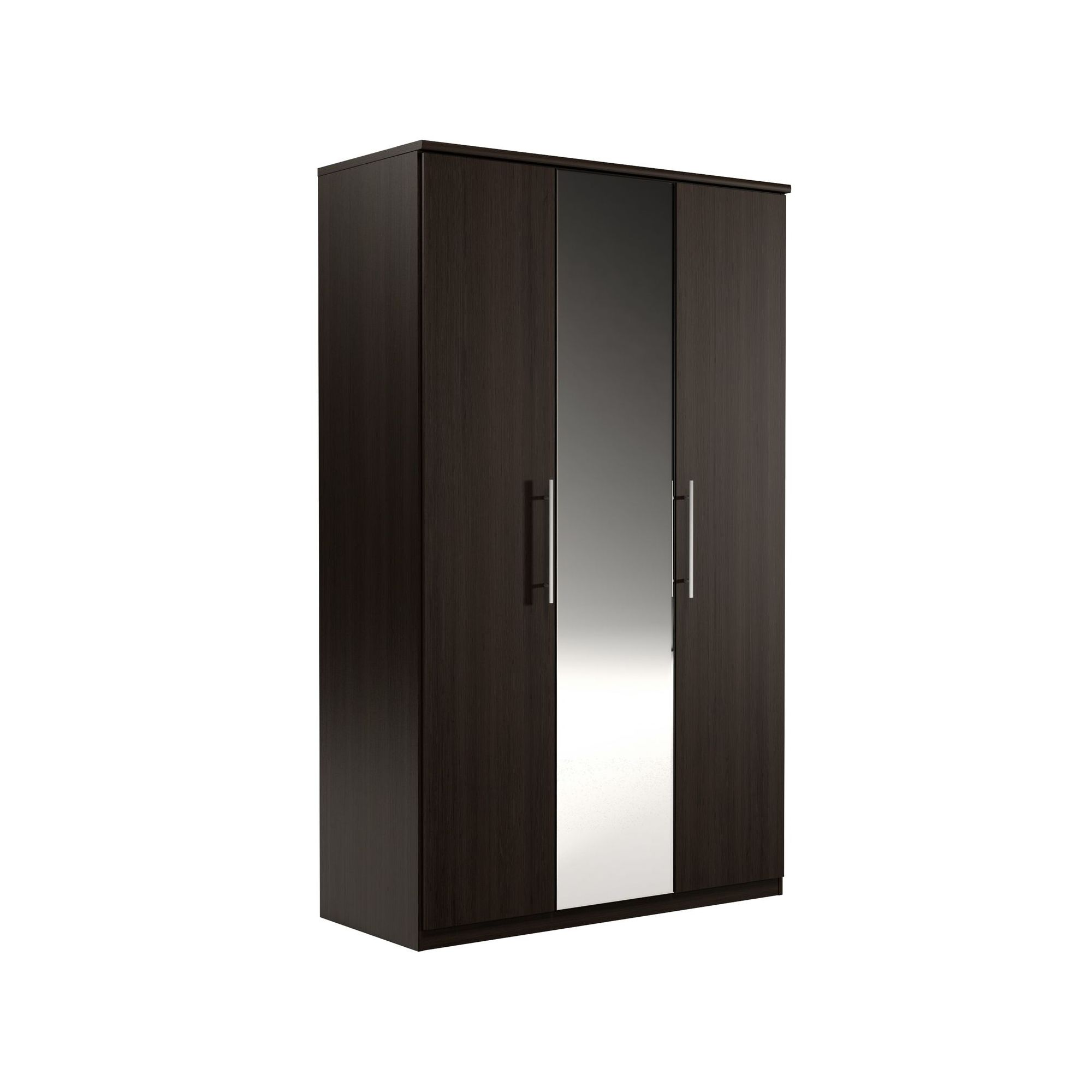 Urbane Designs Prague 3 Door Wardrobe - Espresso at Tesco Direct