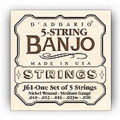 DAddario J61 5-String Banjo Strings - Light