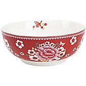 Room 7 Winter Poppy 16.5cm Porcelain Bowl in Rosa