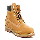 Timberland Mens Wheat Premium Classic 6 inch Nubuck Leather Ankle Boots - Brown