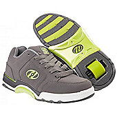 Heelys Chrome Grey/White/Green Heely Shoe - Green