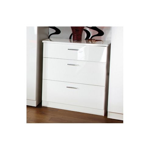 Welcome Furniture Mayfair 3 Drawer Deep Chest - Cream - Ebony - Ebony
