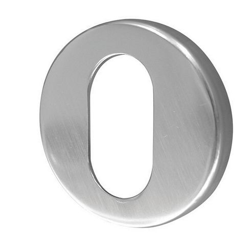 Jedo Satin Anodised Aluminium 50Mm - Oval Profile Concealed Aluminium Escutcheon