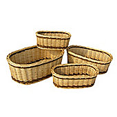 Wicker Valley Two-Tone Oval Tray (Set of 4)