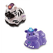 Vtech Toot Toot Animals Bundle - Individual Animals - Zebra And Hippo - 2 Items Supplied